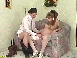young teen in the ninth month of pregnancy fucked