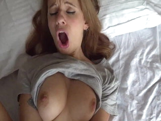 Real AMATEUR Female Orgasm and SQUIRTING on a Big Dick