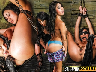 Marina Endures Lesbian Domination & Huge Dildos with Esmi Lee - StrapOnSquad