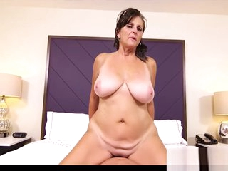 Hungry Step Mom Darla Gives Titjob Good Young Bud