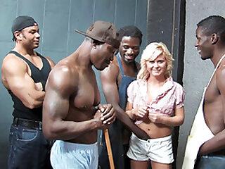 Teen Kelly Surfer Tries Interracial Gangbang With Big Black Cocks