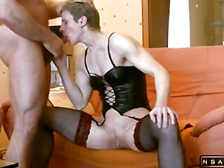 Crazy milf ass to mouth action