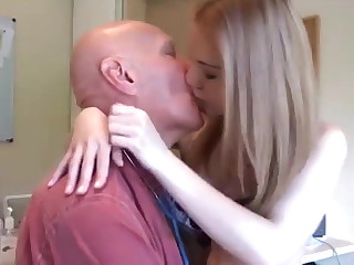 OLD MEN & YOUNG TEENS KISSING COMPILATION