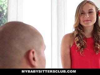 MyBabySittersClub - Cute BabySitter (Alyssa Cole) Fucks Boss For Extra Cash