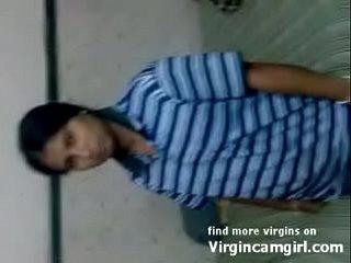Indian village innocent virgin shy to suck cock