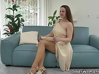 French milf Chloe will make your dick explode with her pantyhosed hairy cunt (brand NEW video available in Full HD 1080P). Bonus video: Euro milf Valentina Ross.